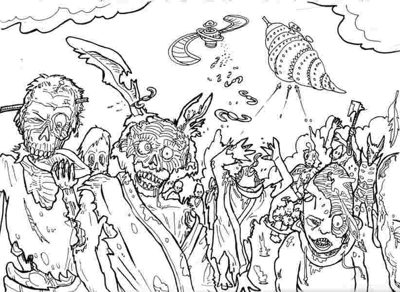 free coloring pages of zombies free printable zombies