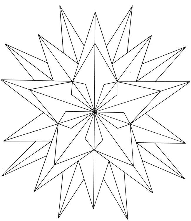 free coloringpainting page geometric star geometric