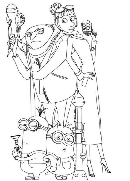 free despicable me 2 coloring pages minion coloring pages