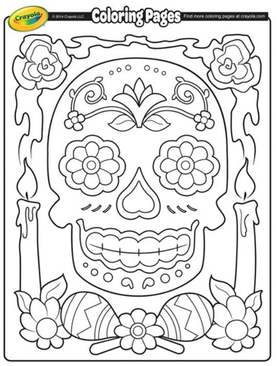free dia de los muertos coloring page day of the dead 2019