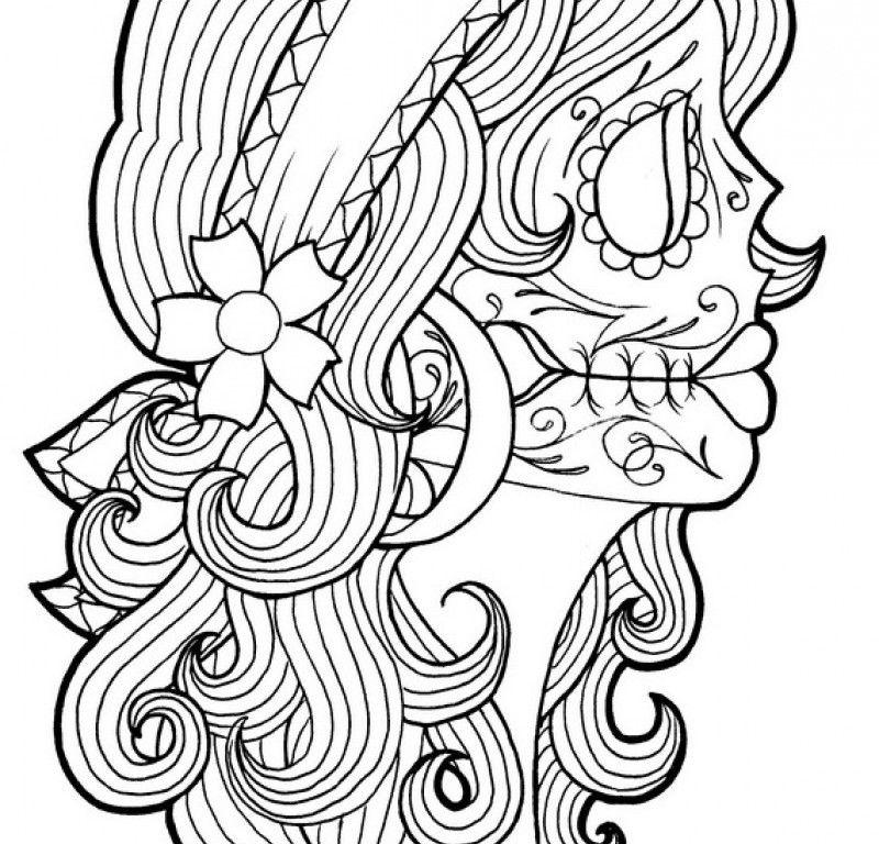 free dia de los muertos coloring pages download free clip