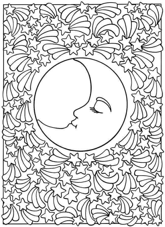 free eclipse coloring pages solar and lunar moon