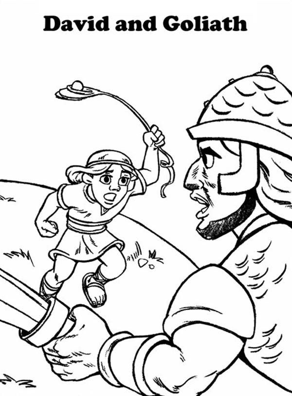 free free printable coloring pages david and goliath