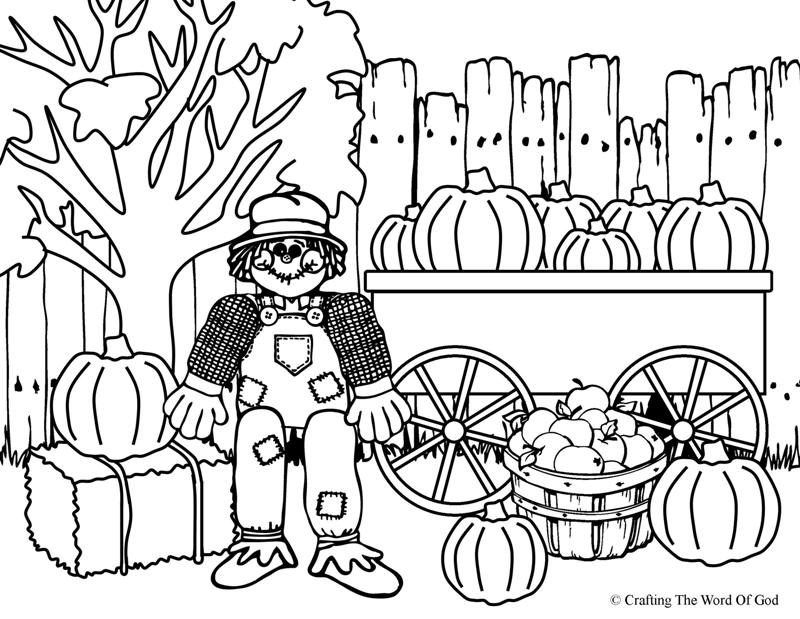 free free printable coloring pages of scarecrows download