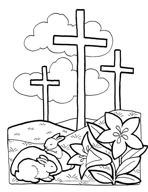 free free printable easter coloring pages religious