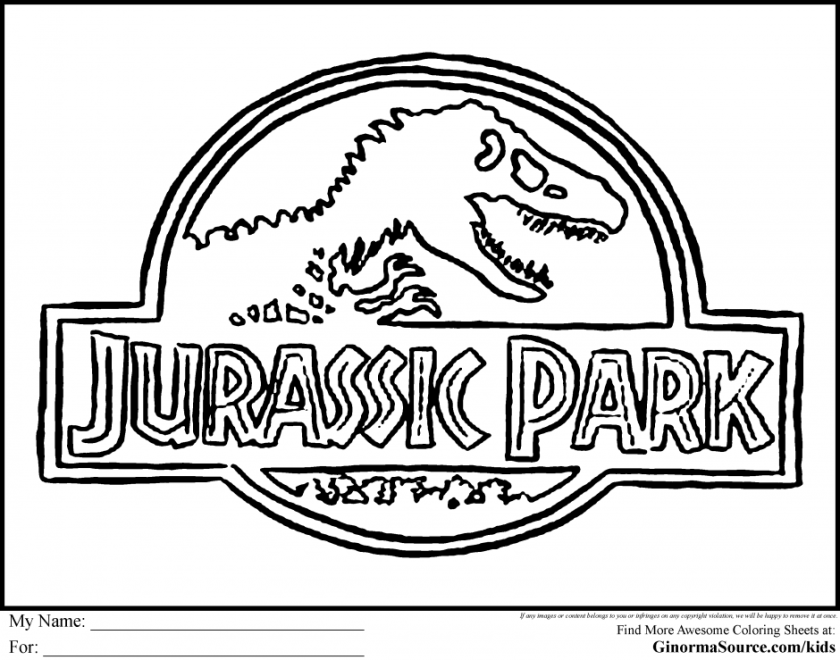 free free printable jurassic park coloring pages download