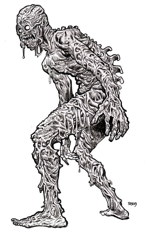 free free printable zombie coloring pages download free