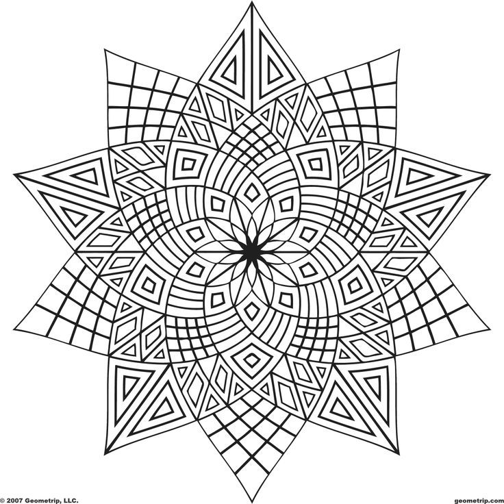 free geometric shape coloring pages download free clip art