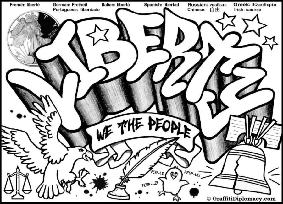 free graffiti coloring page liberty graffiti free coloring