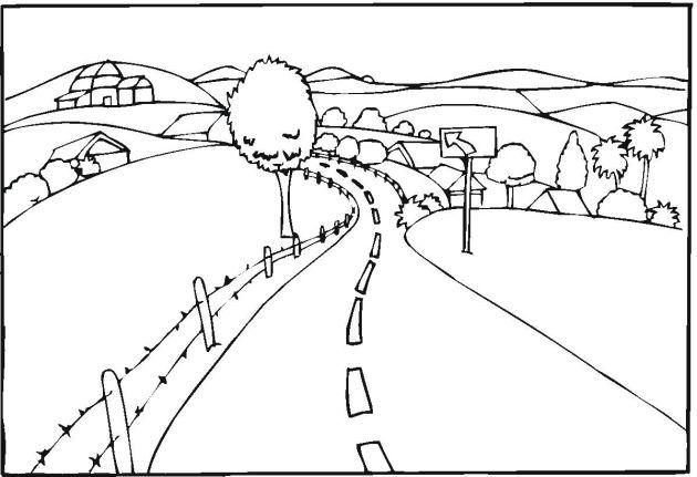 free landscape coloring pages ausmalbilder ausmalen und
