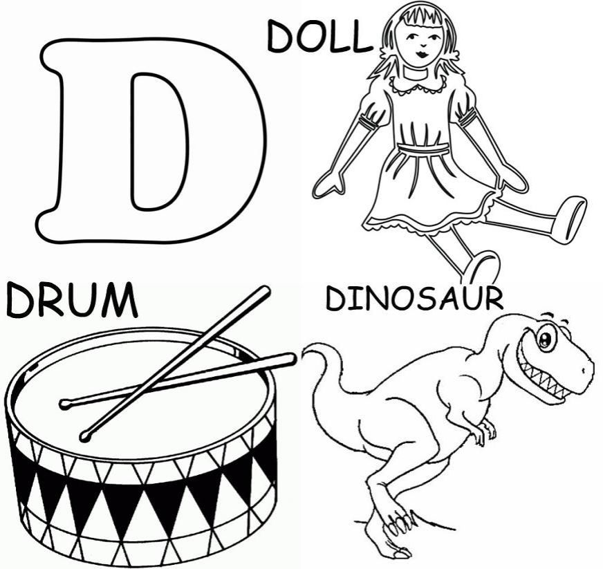 free letter d coloring pages download free clip art free