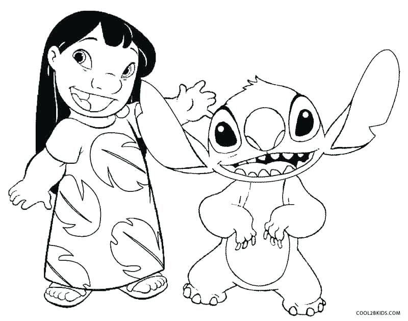 free lilo and stitch coloring pages to print pusat hobi