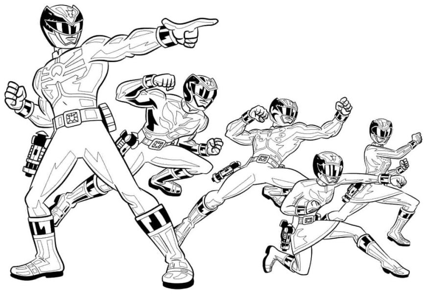 free megaforce power rangers coloring pages printable