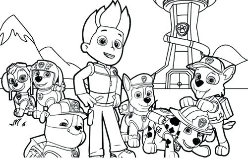 free paw patrol coloring pages to print at getdrawings