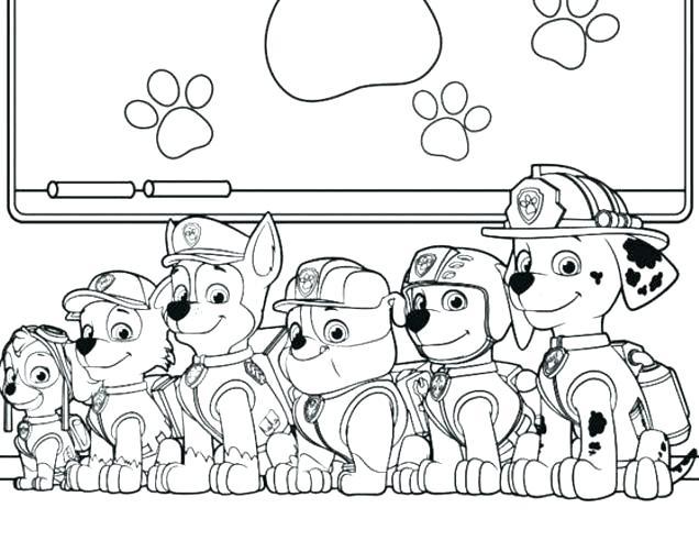 free paw patrol coloring pages to print pusat hobi