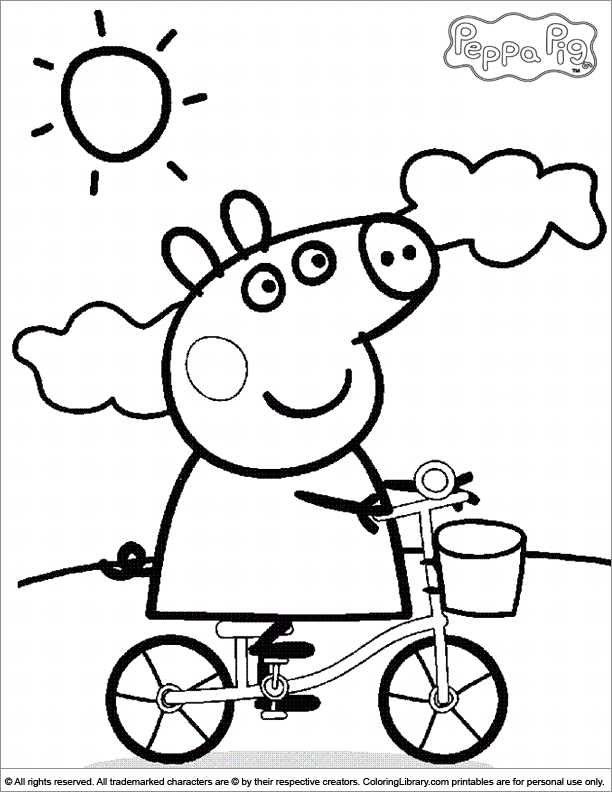 free peppa pig coloring pages download free clip art free