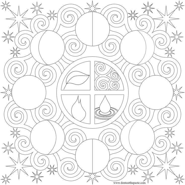 free phases moon coloring pages download free clip art