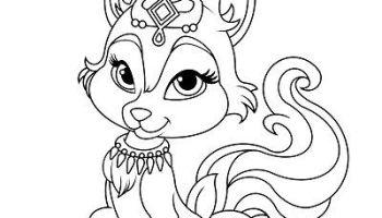 Kidsnfun.com 36 coloring pages of Princess Palace Pets - Coloring ... | 200x350