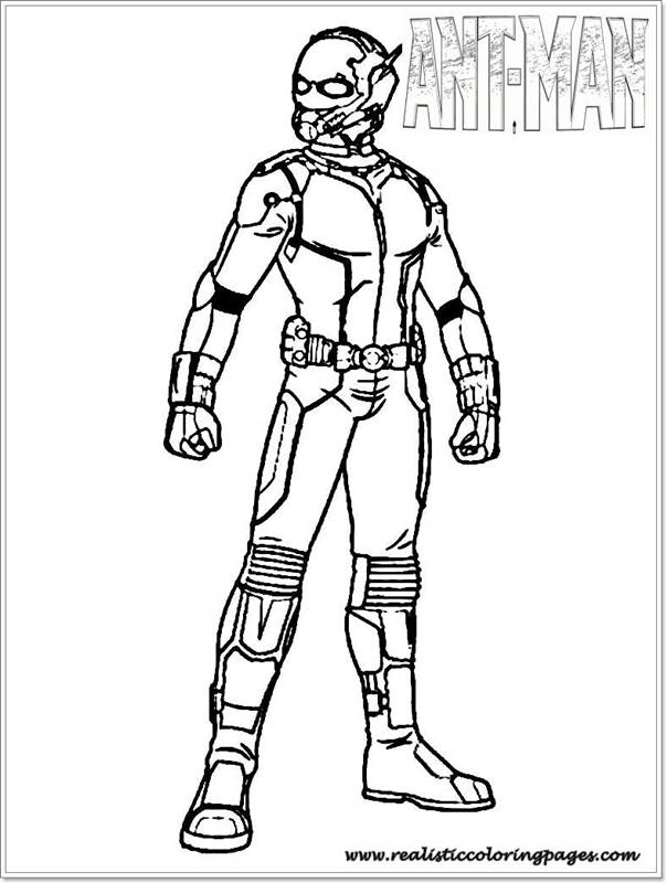free printable ant man coloring pages realistic coloring