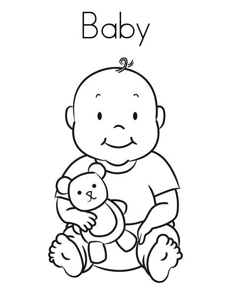 free printable ba coloring pages for kids coloring pages