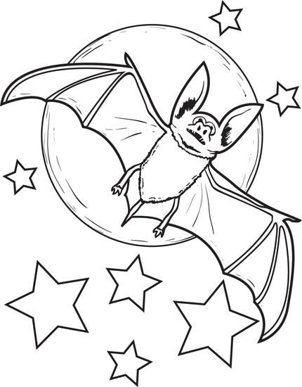 free printable bat coloring page for kids our flower pots