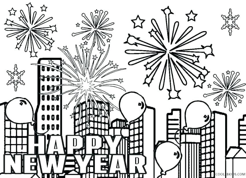 free printable coloring pages happy new year pusat hobi