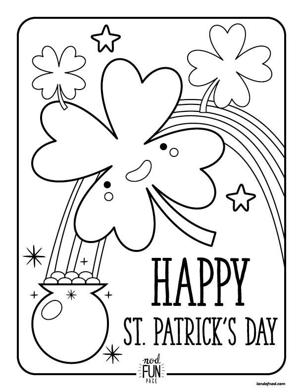free printable coloring pages st patricks day st
