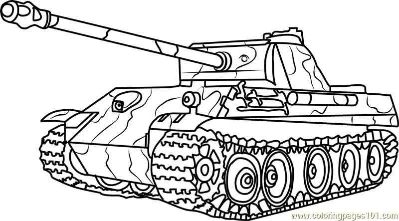 free printable coloring pages tanks german panther army tank
