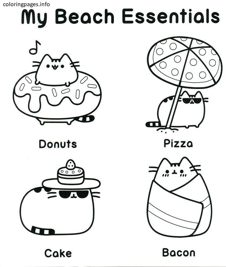 free printable colouring pages pusheen pusat hobi