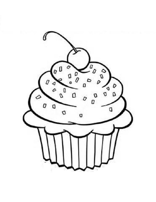 free printable cupcake coloring pages for kids cupcake
