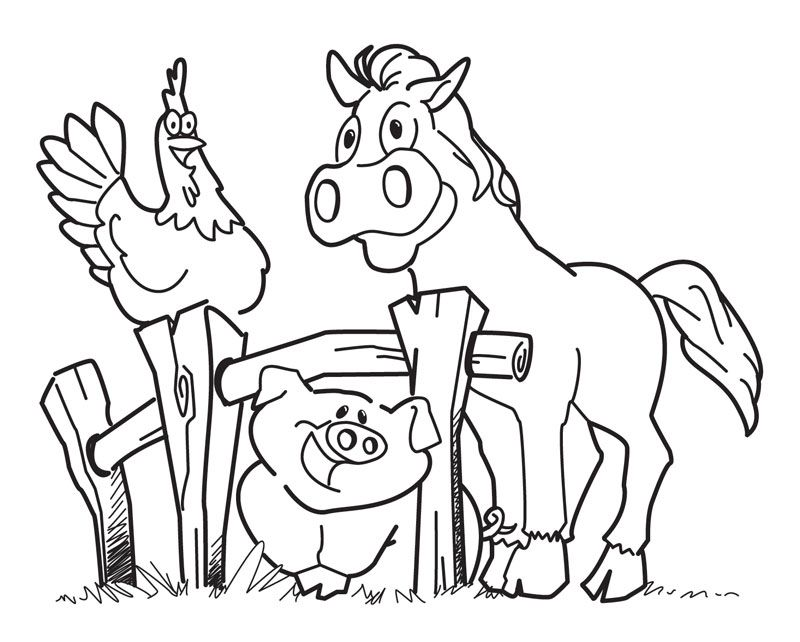 free printable farm animal coloring pages for kids animal