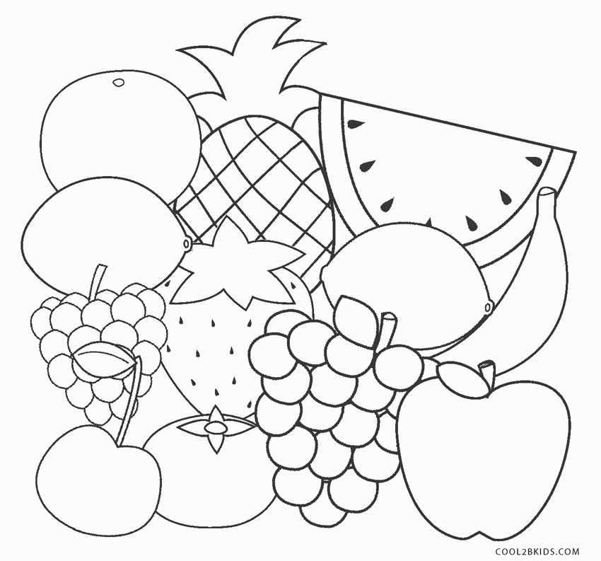 free printable fruit coloring pages for kids cool2bkids