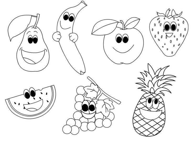free printable fruit coloring pages for kids malvorlagen