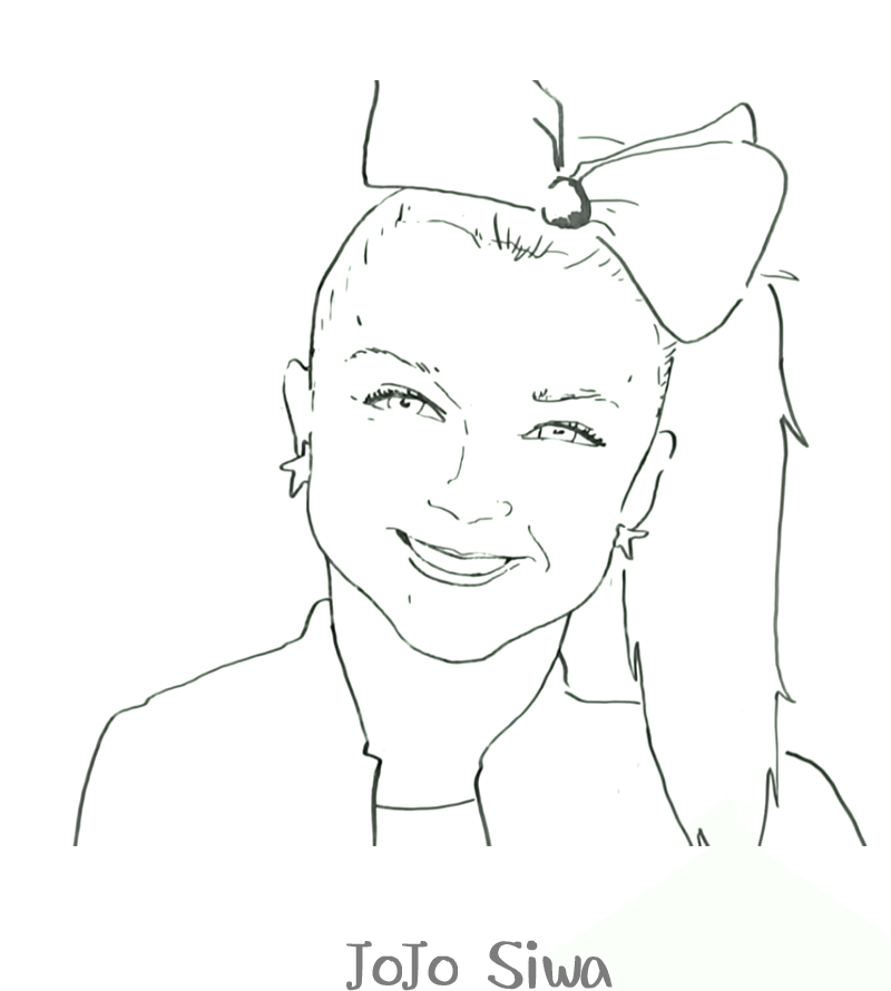 free printable jojo siwa coloring pages jojo siwa birthday