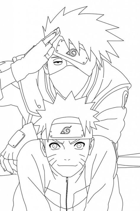 free printable naruto coloring pages for kids ausmalen