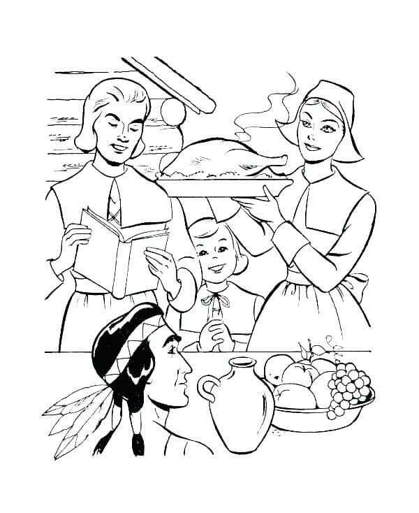 free printable pilgrim coloring sheets