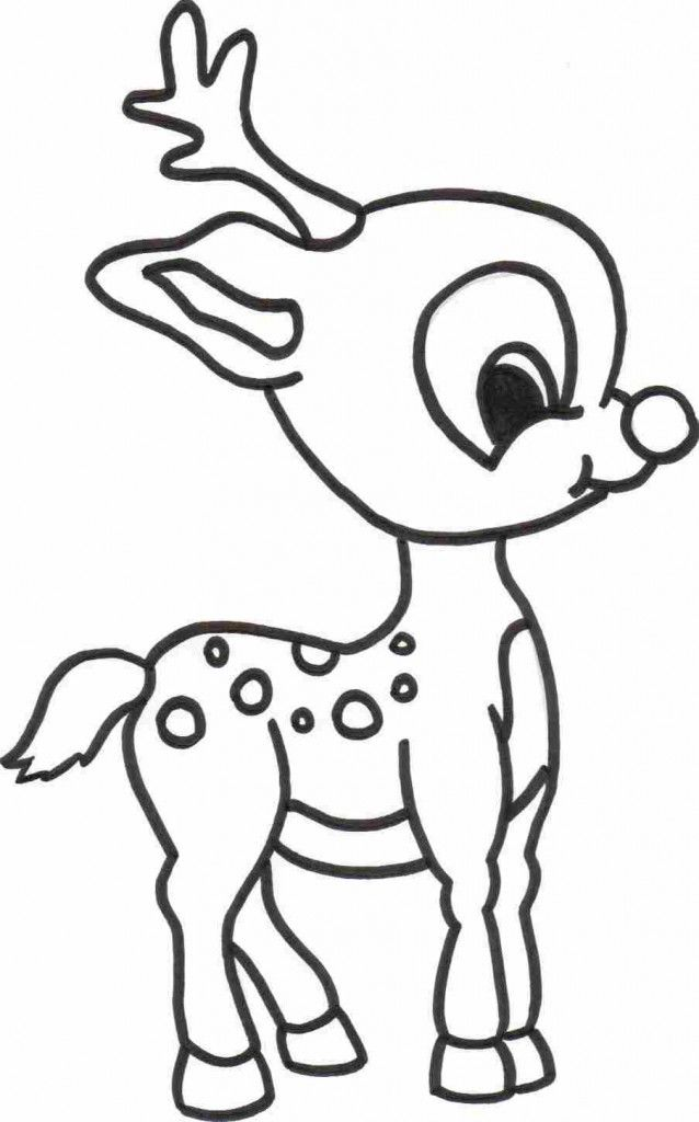 free printable reindeer coloring pages for kids christmas