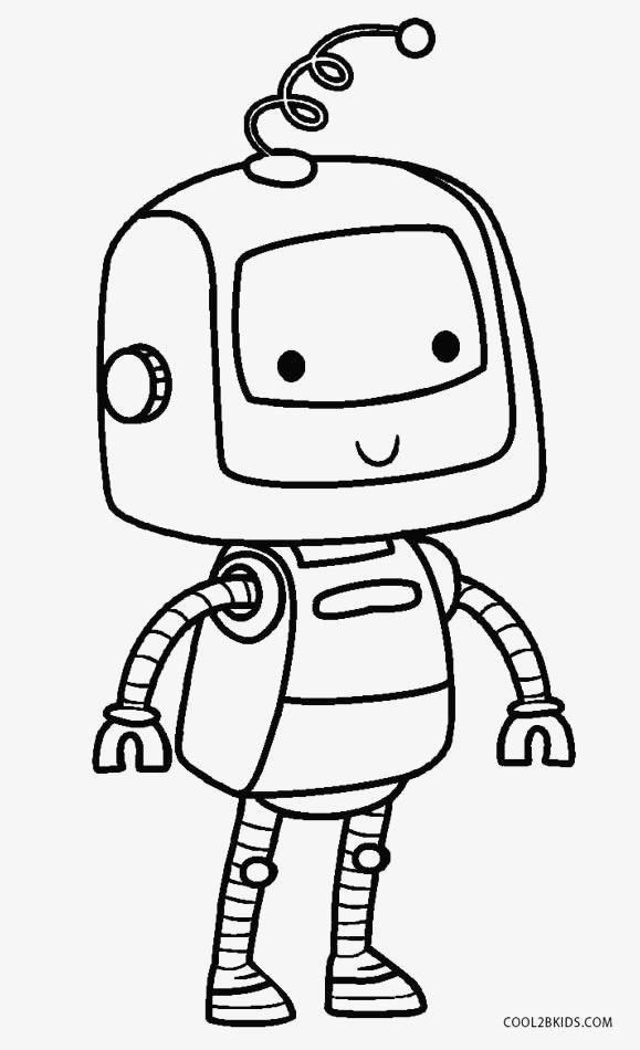 free printable robot coloring pages for kids for coloring