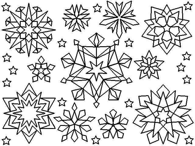 free printable snowflake coloring pages for kids snowflake