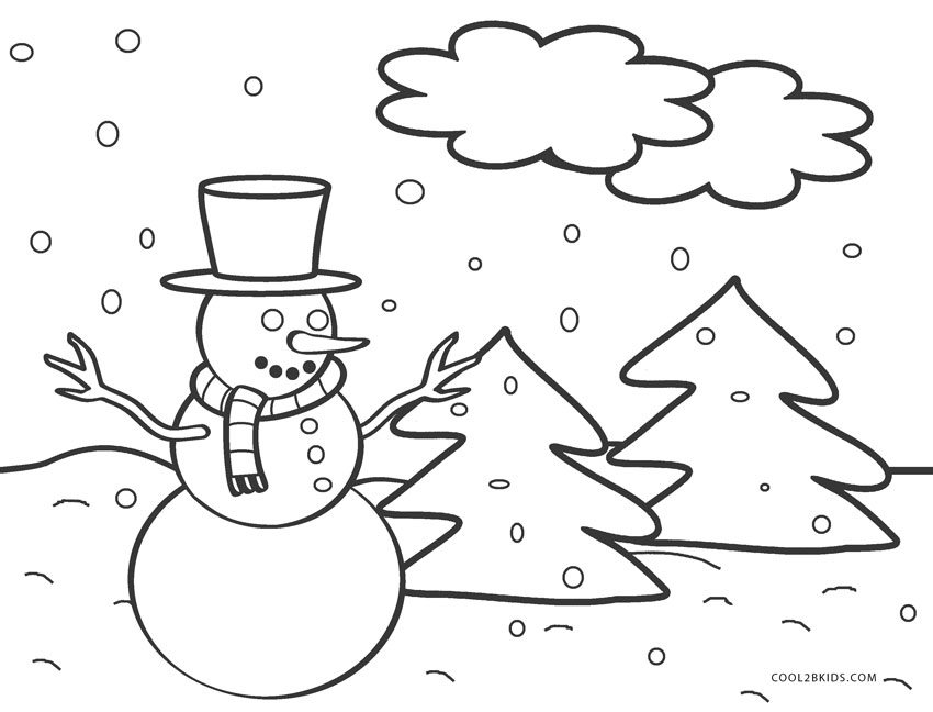 free printable snowman coloring pages for kids cool2bkids
