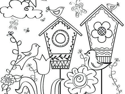 free printable spring coloring pages at getdrawings