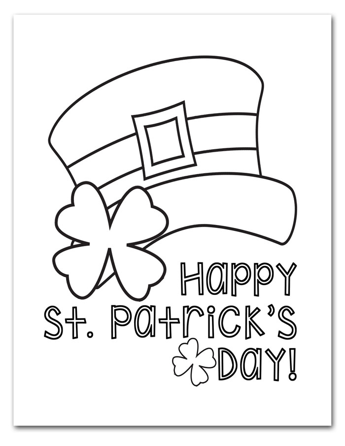free printable st patricks day coloring pages i should