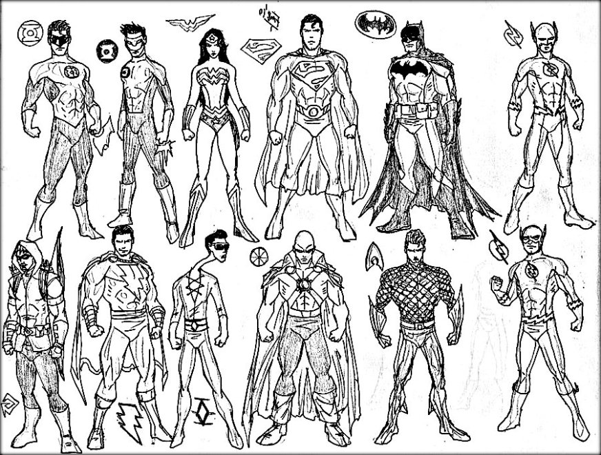 free printable superhero coloring pages at getdrawings
