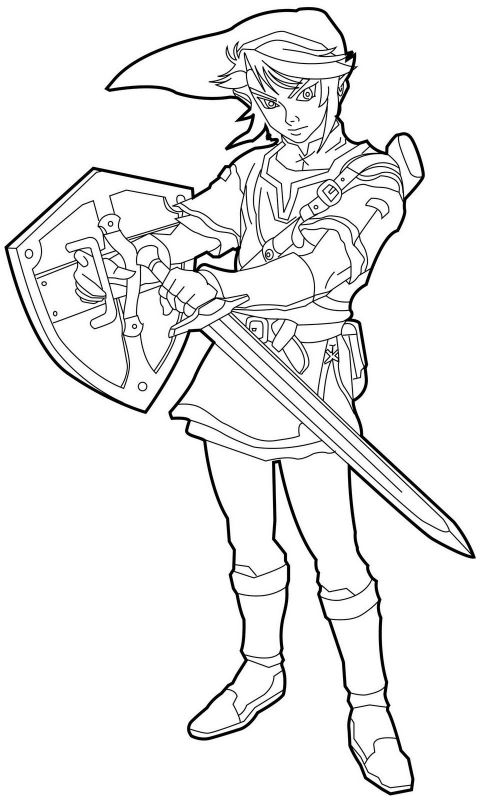 free printable zelda coloring pages for kids legend of zelda