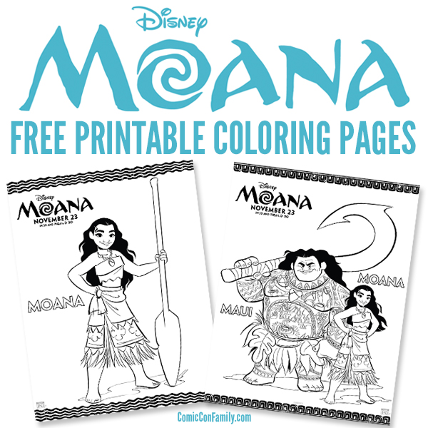 free printables disney moana coloring pages comic con family