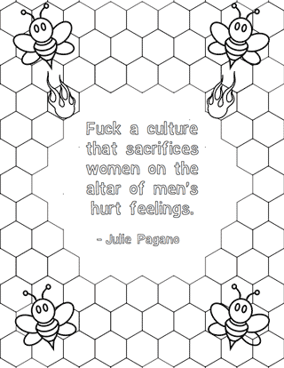 free printables feminist colouring pages