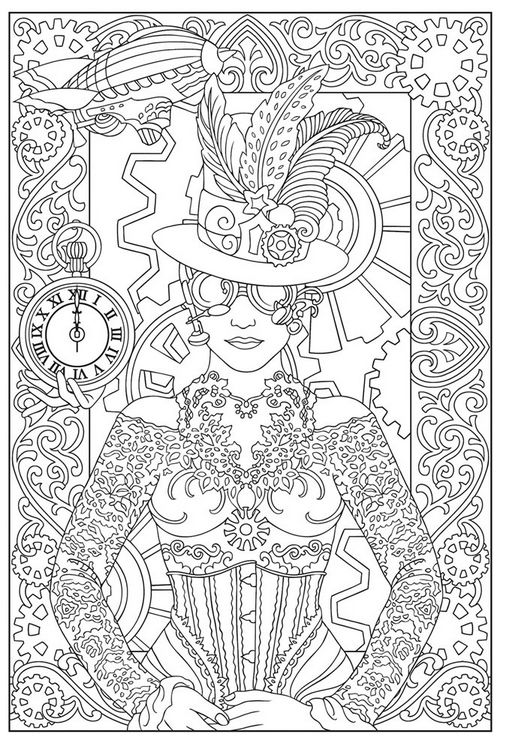 free steampunk coloring page coloring pages coloring