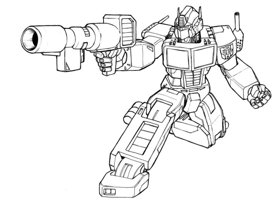 free transformer optimus prime coloring pages download free