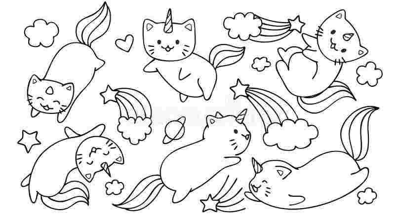 free unicorn cat coloring pages unicorn cat coloring pages