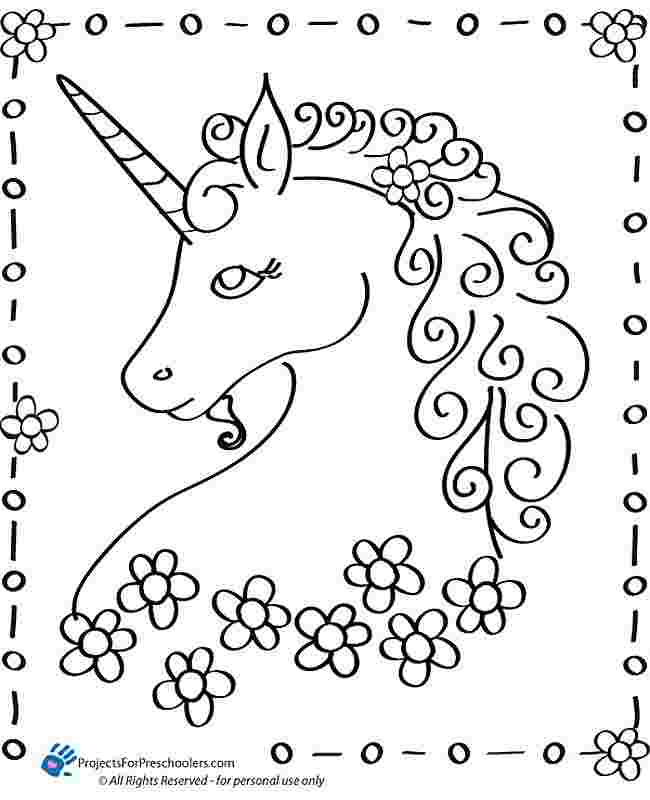 free unicorn coloring pages for kindergarten lovely unicorn
